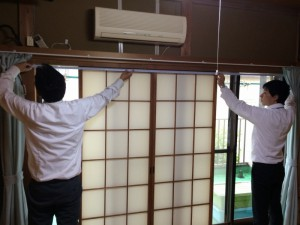 和室にもエコ内窓は設置できます。その際、障子は不要となます