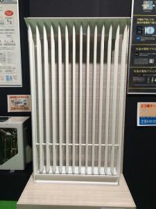 輻射熱の冷暖房です。ヒートポンプで地球にやさしい