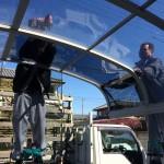 壊れたカーポート屋根の交換