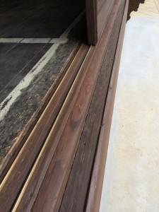 after ボロボロになっていた鉄板は取り除き、磨いた後に自然塗装を施しました