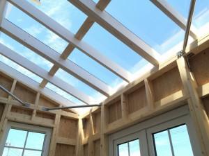 houseの中から空を見上げると、なんとも開放的な青空を眺めることが出来ます