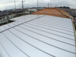 after シルバー色のガルバニウム鋼板できれいに仕上がりました