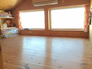 広〜い、ロフト。床部分で4畳ほどあります。