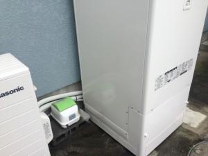 配管配線も美しく再施工 浄化槽ブロアーも綺麗に設置