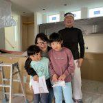 真っ白な漆喰 in 緑の家