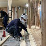 順調に進む大工工事 in 北堀の家