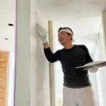 真っ白な漆喰 in 五十子の家