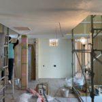 真っ白な漆喰 in 北下新井の家