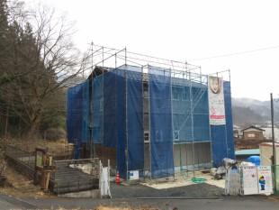 完成間近  これから外壁漆喰工事です